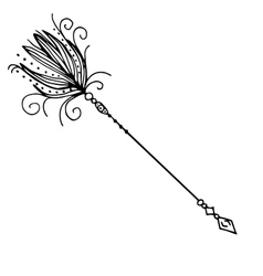 Very high quality of arrow with vector image