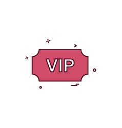 Vip ticket icon design vector