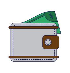 wallet with money symbol vector image
