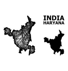 Wire frame map haryana state vector