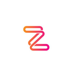 z initial line abstract logo vector image