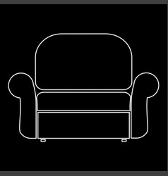 armchair the white path icon vector image vector image