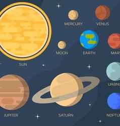 Flat solar system vector image