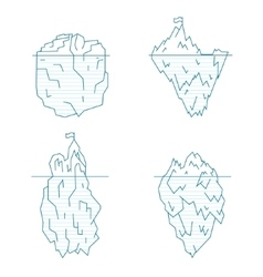 Iceberg Line Style Set vector image