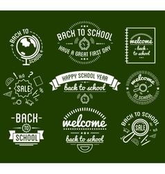 Back to School typography Designs Label Set vector image