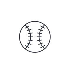 baseball ball thin line icon linear symbol vector image