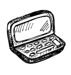 black sketch drawing of notebook vector image vector image