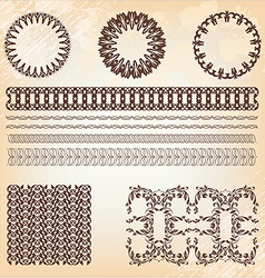 collection of vintage elements vector image vector image