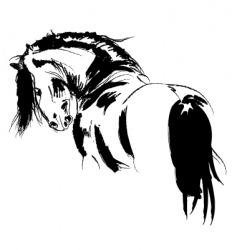 Frisian stallion vector image vector image