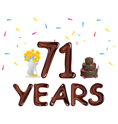 happy birthday seventy one 71 year vector image vector image