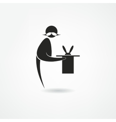 Magician icon vector image vector image