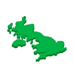 Map of United Kingdom icon in isometric 3d style vector image