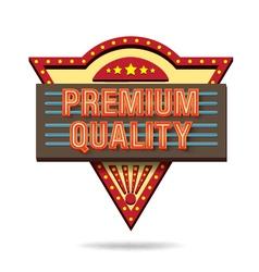 Premium quality retro boarddesign vector image