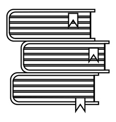Stack of books icon outline style vector