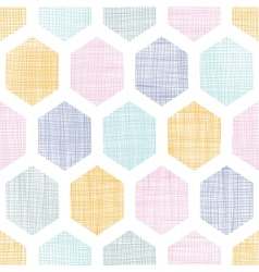Abstract colorful honeycomb fabric textured vector