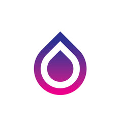 abstract square waterdrop logo vector image