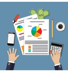 financial calculations design vector image