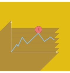 Flat web icon with long shadow financial vector image