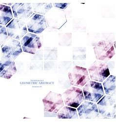geometric technological various hexagon digital vector image vector image