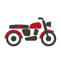red-black bike graphic silhouette isolated vector image