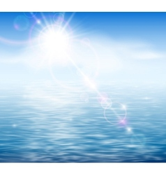 Sunshine by the sea vector image