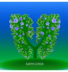 Tree lungs vector image