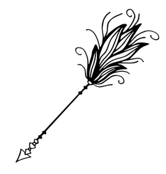 Very high quality of arrow with vector image vector image