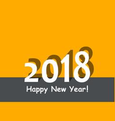 creative happy new year 2018 design flat design vector image
