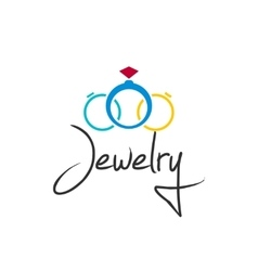 Jewelry logo isolated on white vector image vector image