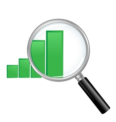 Magnified Chart vector image