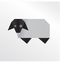 origami sheep vector image
