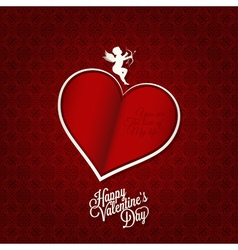 valentines day card happy holiday background vector image vector image
