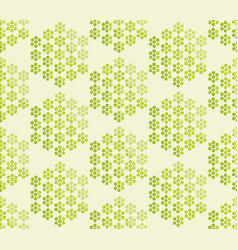 Abstract blossom geometric seamless pattern vector
