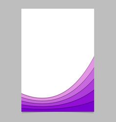 Abstract page template from layer stripes vector