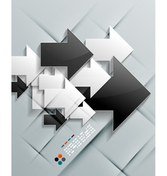 arrows paper modern design vector image