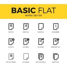 Basic set of notes icons vector image vector image