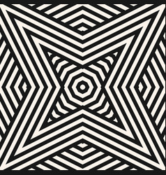 black and white geometric seamless star pattern vector image