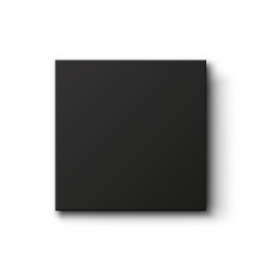Black box isolated on white background top view vector