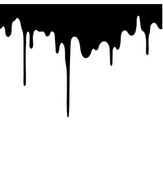 black liquid flowing down seamless design element vector image
