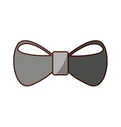 Bown tie hipster style icon vector