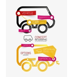 Car infographic tag cloud vector