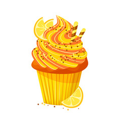 cartoon style of sweet cupcake vector image