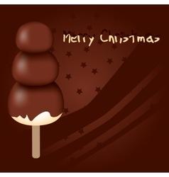 chocolate christmas vector image