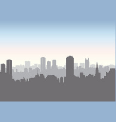 city street skyline urban landscape building vector image