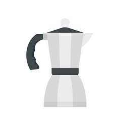 coffee pot icon flat style vector image