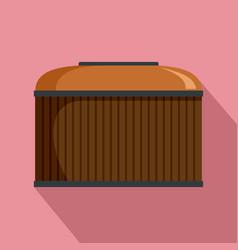 cognac wood barrel icon flat style vector image