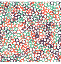 color circles seamless pattern vector image