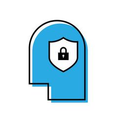 Creative idea protection line icon vector