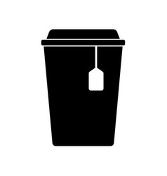 cup with tea sign filled black icon at vector image