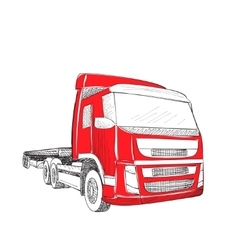 Delivery transport truck vector